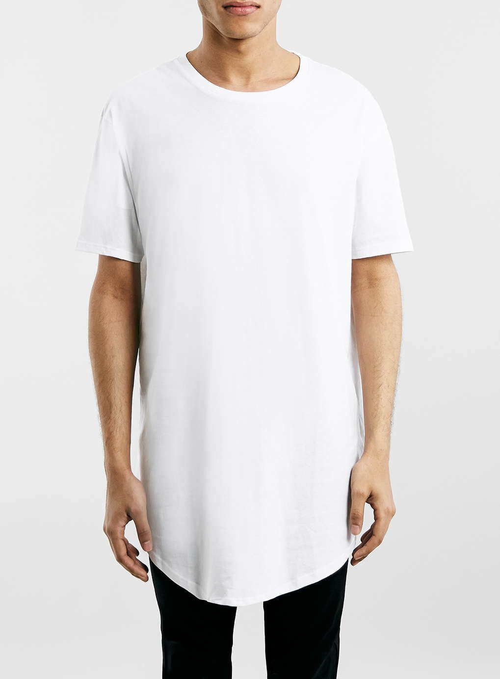 White Oversized Longline T-Shirt | Photos