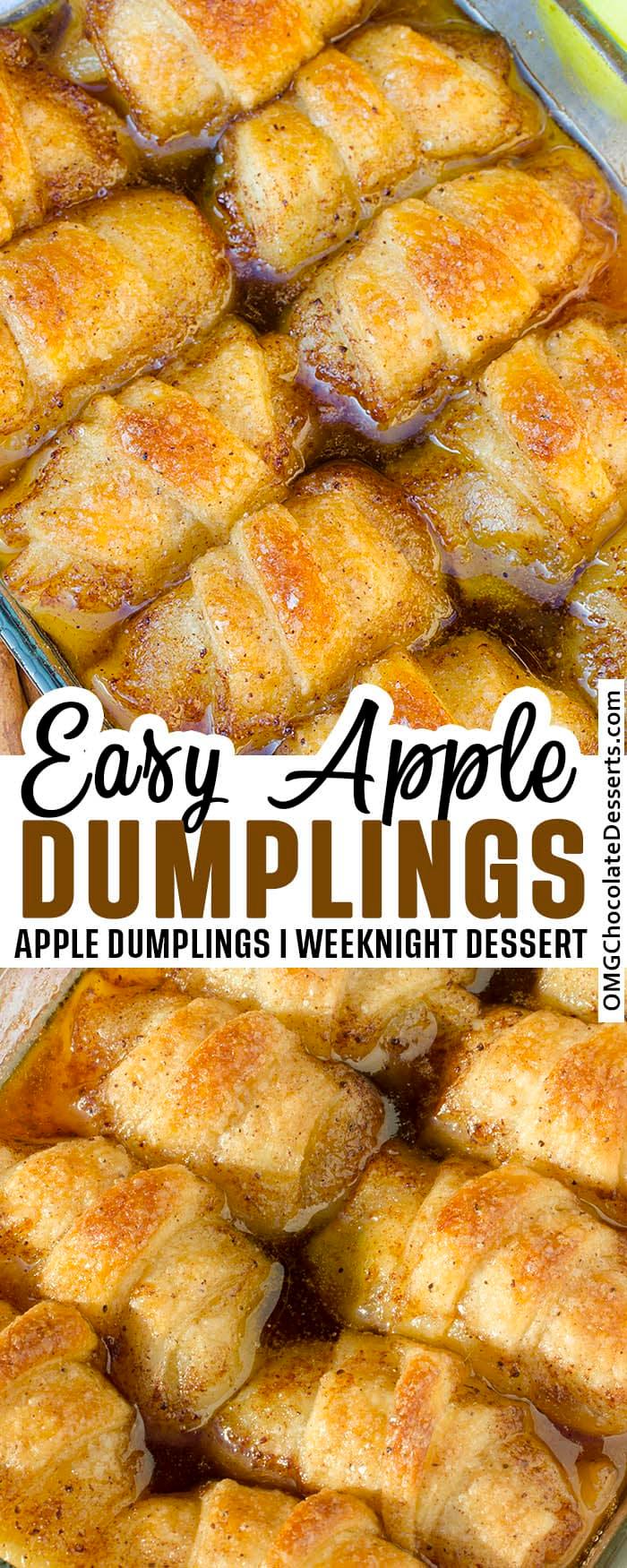 easy apple dumplings in 2020 easy apple dumplings apple dumplings apple dessert recipes pinterest