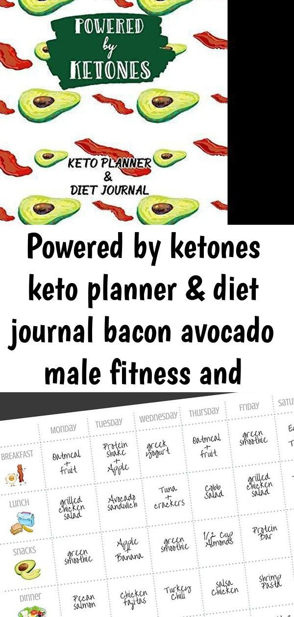 #Avocado #bacon #Diet #fitness #Journal #Keto #ketones #male #Planner #powered #Weight Powered By Ke...