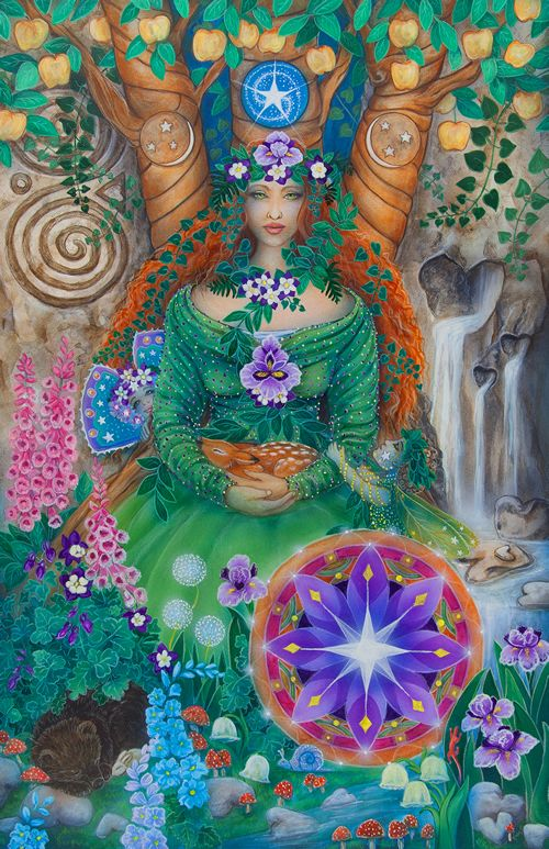 Queen of Pentacles - Star Tarot by Cathy McClelland
