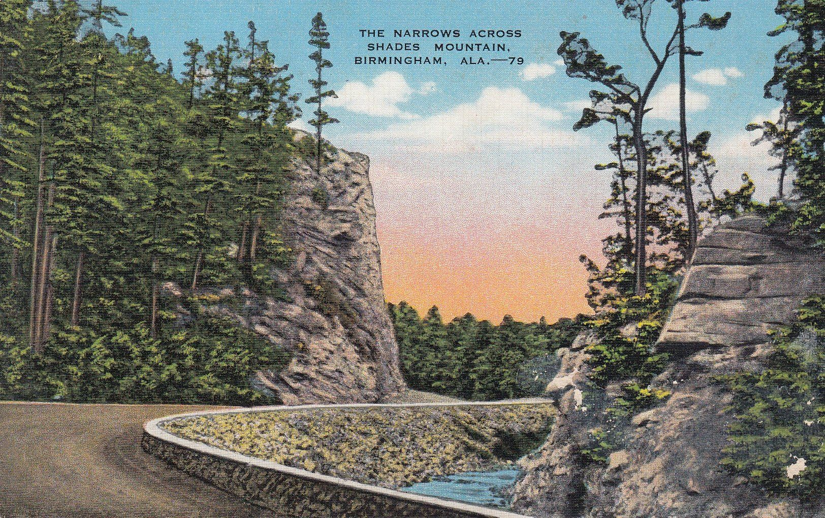 Birmingham alabama the narrows across shades mountain 1940