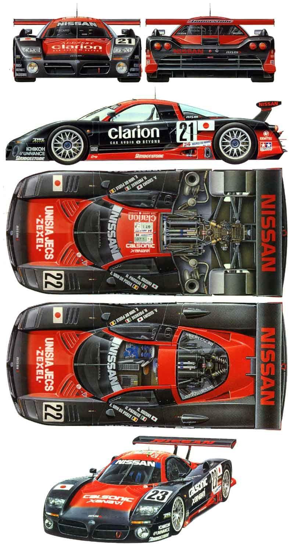 Car blueprint race car side pinterest cars nissan and le mans car blueprint malvernweather Choice Image