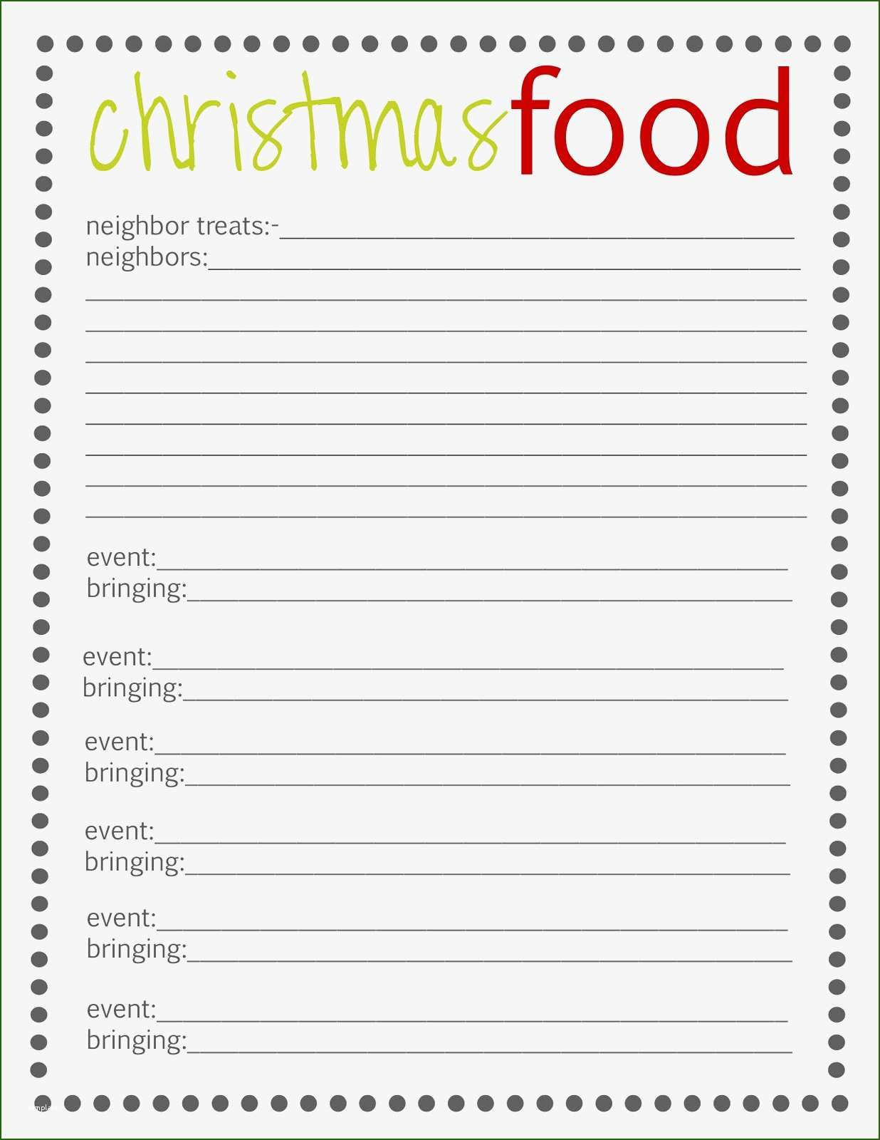 20 Leading Meal Sign Up Sheet Template Christmas Planning Christmas Organization Free Christmas Printables Holiday sign up sheet template