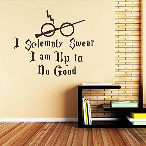 Harry Potter Wall Decal Quote  sc 1 st  Pinterest & Harry Potter Wall Decal Quote - I Solemnly Swear Hogwarts Wall ...