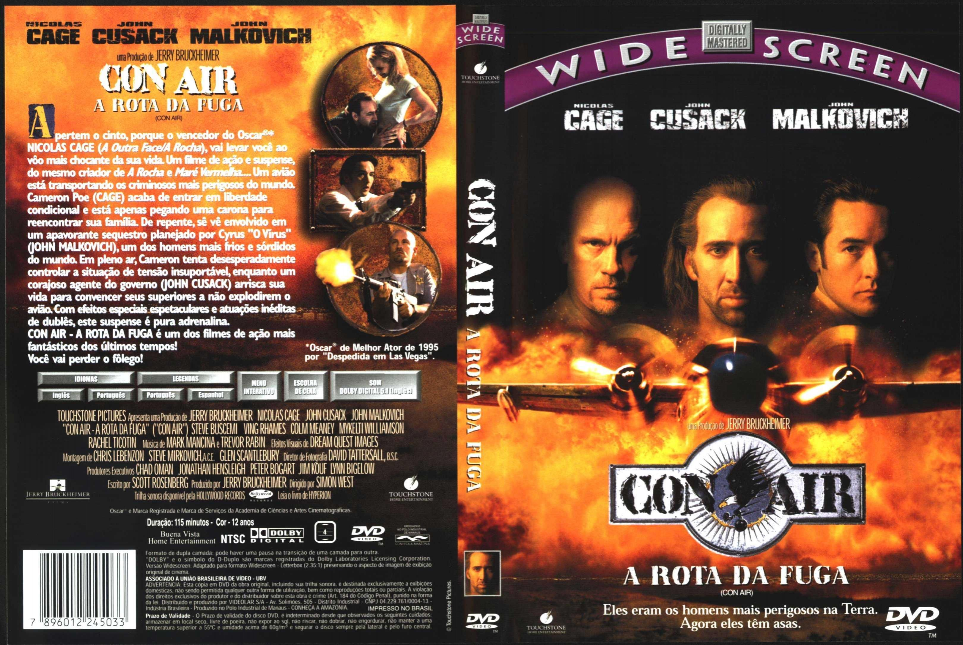 Con Air A Rota Da Fuga Nicolas Cage Filmes Rotas