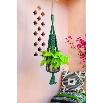 38 Rectangular Polyester Plant Hanger Teal Opalhouse Blue In