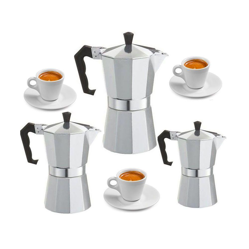 Percolator Coffee Maker Stove Top : Espresso Stove Top Coffee Maker - Continental Moka Percolator Pot - 3, 6, 9 Tops, Pots and ...