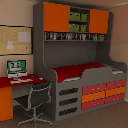 Best Aurora High Sleeper Storage Bed With 6 Drawers Under The 400 x 300