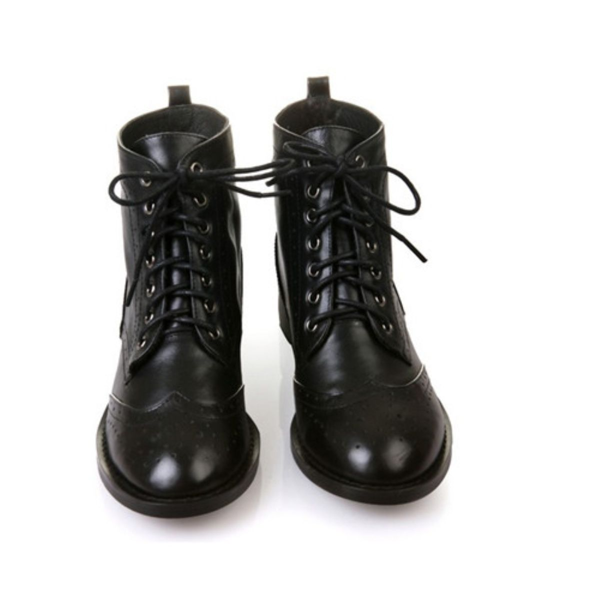 c3d60fc65b546 Black Lace-up Martin Boots-Wendybox.com. Black Lace Up Ankle Boots - Boot Yc  ...