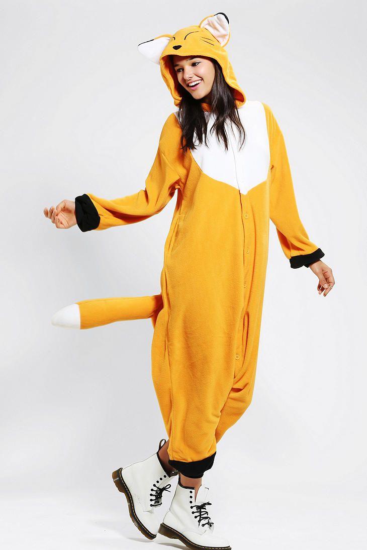 Kigurumi Fox Costume - Urban Outfitters | Halloween stuff | Pinterest