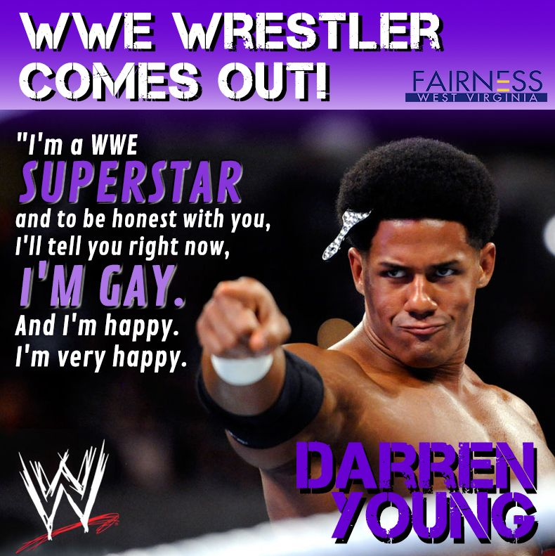WWE Superstar Darren Young (real name Fred Rosser) comes out ...