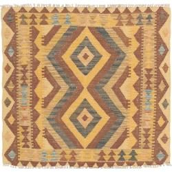 Photo of Kelim Afghan Old style Teppich 92×93 Orientteppich, Quadratisch