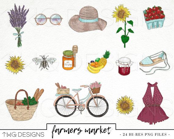 Farmers Market Fashion Girl Clip Art Watercolor Clipart Png Etsy Clip Art Farmers Market Fashion Watercolor Clipart