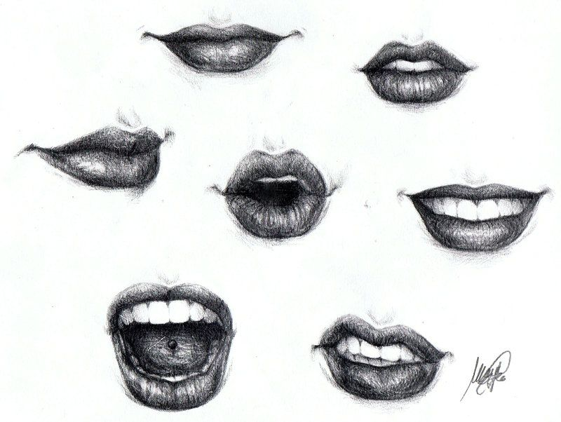 Lips by maga a7x on deviantart drawing and artwork for How to draw cute lips
