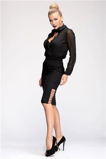 107 1148 Etek Moda Stilleri Siyah Kisa Elbise Moda Tasarimcilari