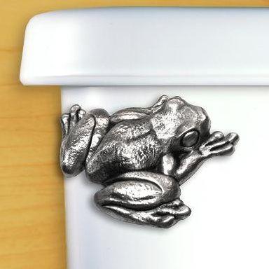 Frog Pewter Toilet Handle