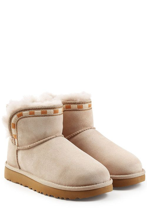 UGG AUSTRALIA UGG AUSTRALIA ROSAMARIA EMBROIDERED MINI SUEDE BOOTS. #uggaustralia #shoes #