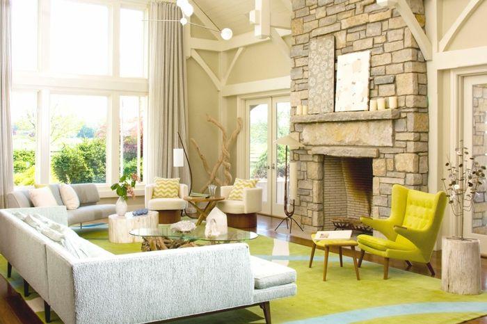 ▷ 1001 + Ideen für Wohnwand selber bauen mit Anleitungen - wohnzimmer design steinwand