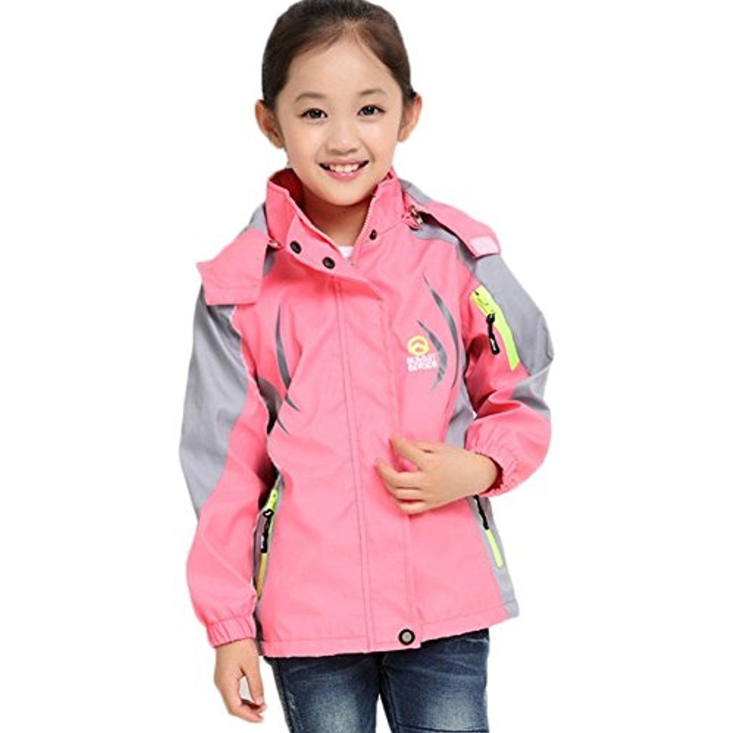 Girl S Athletic Outerwear Zip Up Waterproof Wind Jacket For More Information Visit Image Link This Is An Affiliate L Hoodie Jacket Jackets Outdoor Outfit [ 1500 x 1500 Pixel ]