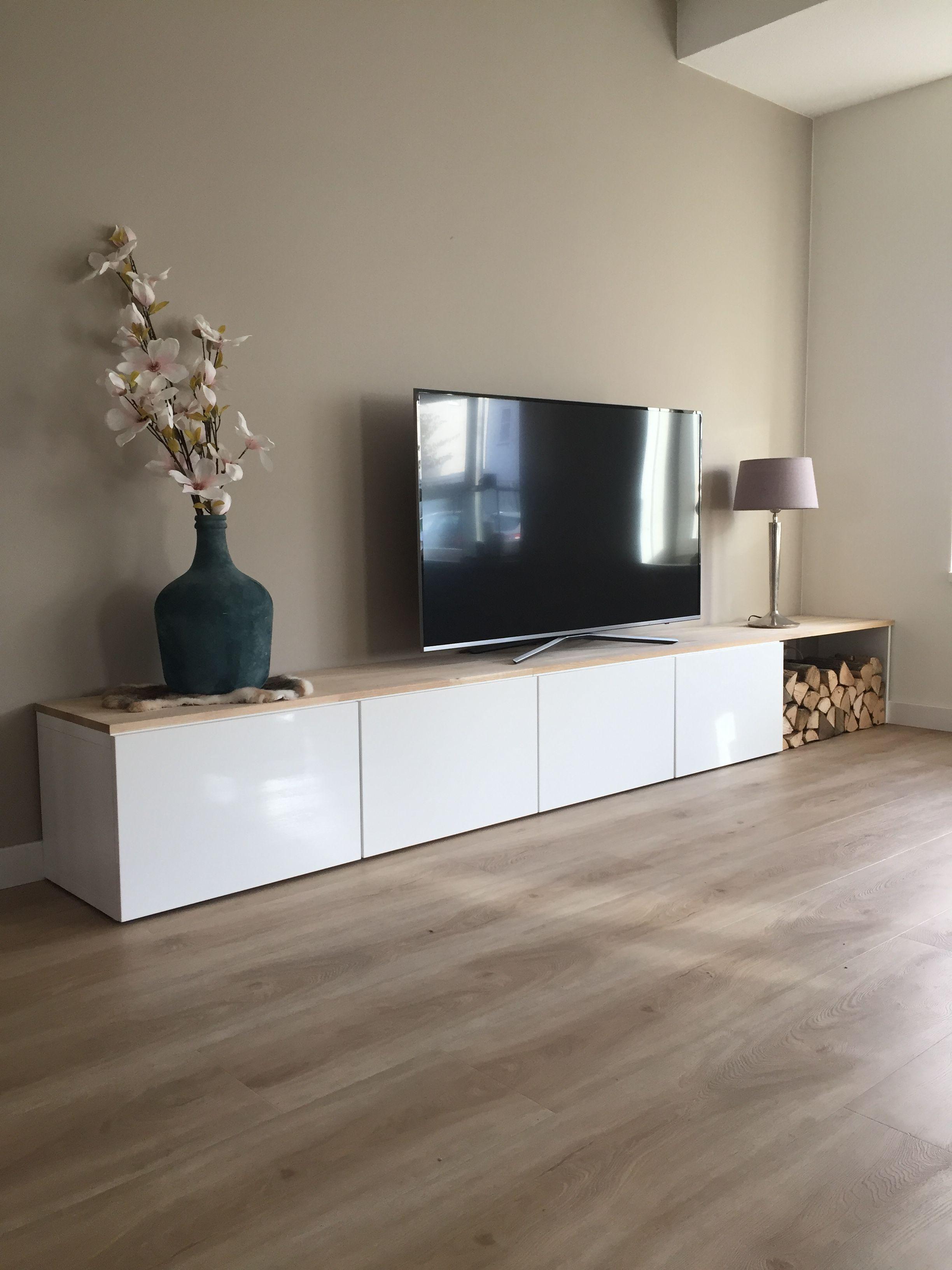 Tvmeubel #homemade #tv #blauwevaas #hout #wood #Samsung