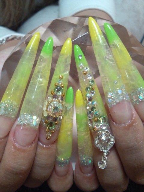 extra long gyaru nails | Gyaru nails | Pinterest