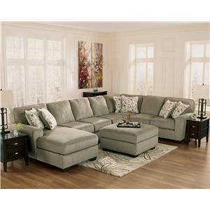 Ashley Furniture Patola Park - Patina 4-Piece Sectional with Right Chaise  sc 1 st  Pinterest : corduroy sectional ashley furniture - Sectionals, Sofas & Couches