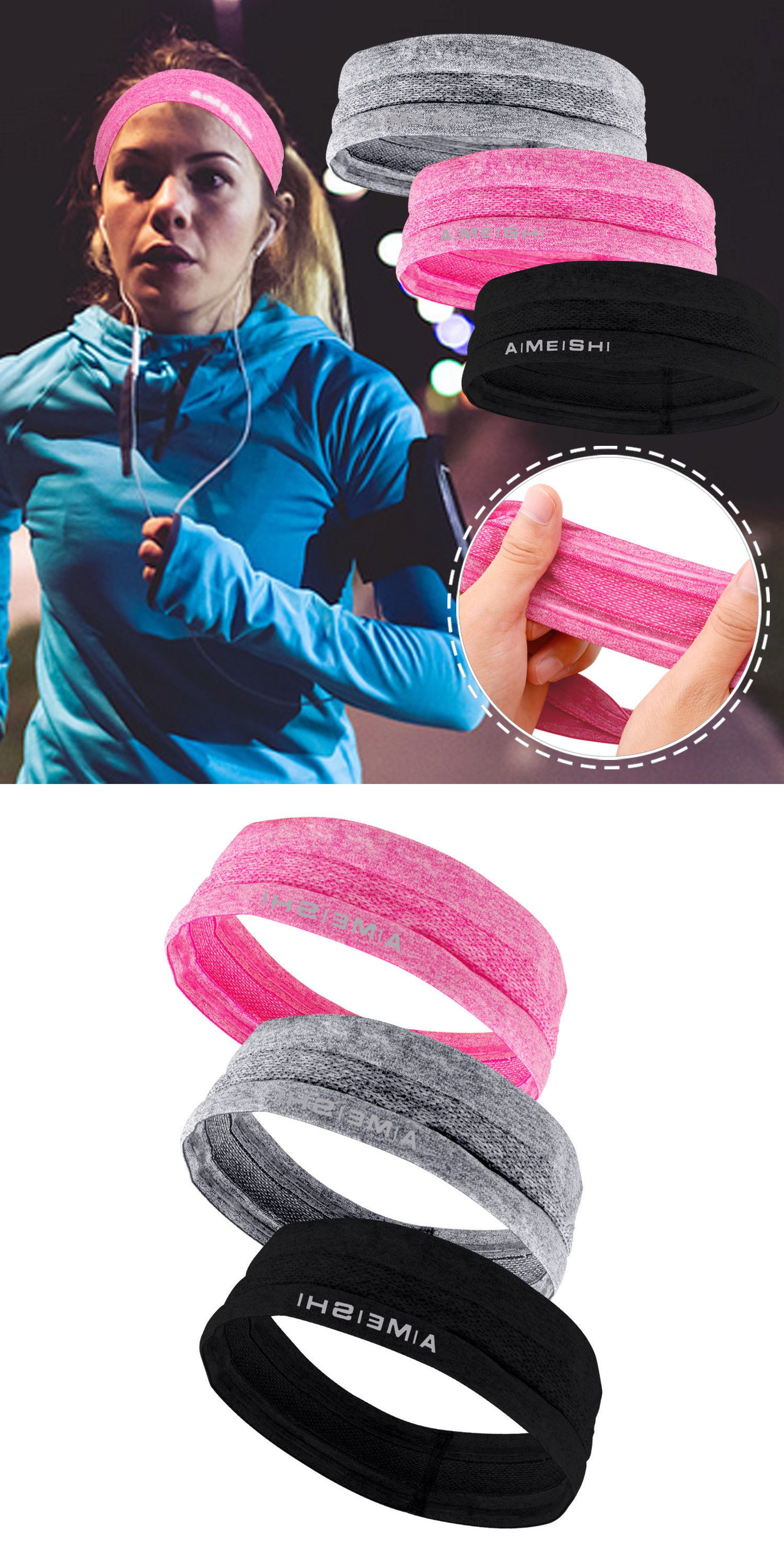 Hair Accessories 45220  Sport Sweat Sweatband Headband Women Men Yoga Gym  Workout Stretch Hair Head Band -  BUY IT NOW ONLY   12.15 on  eBay   accessories ... 1aa01cfc394