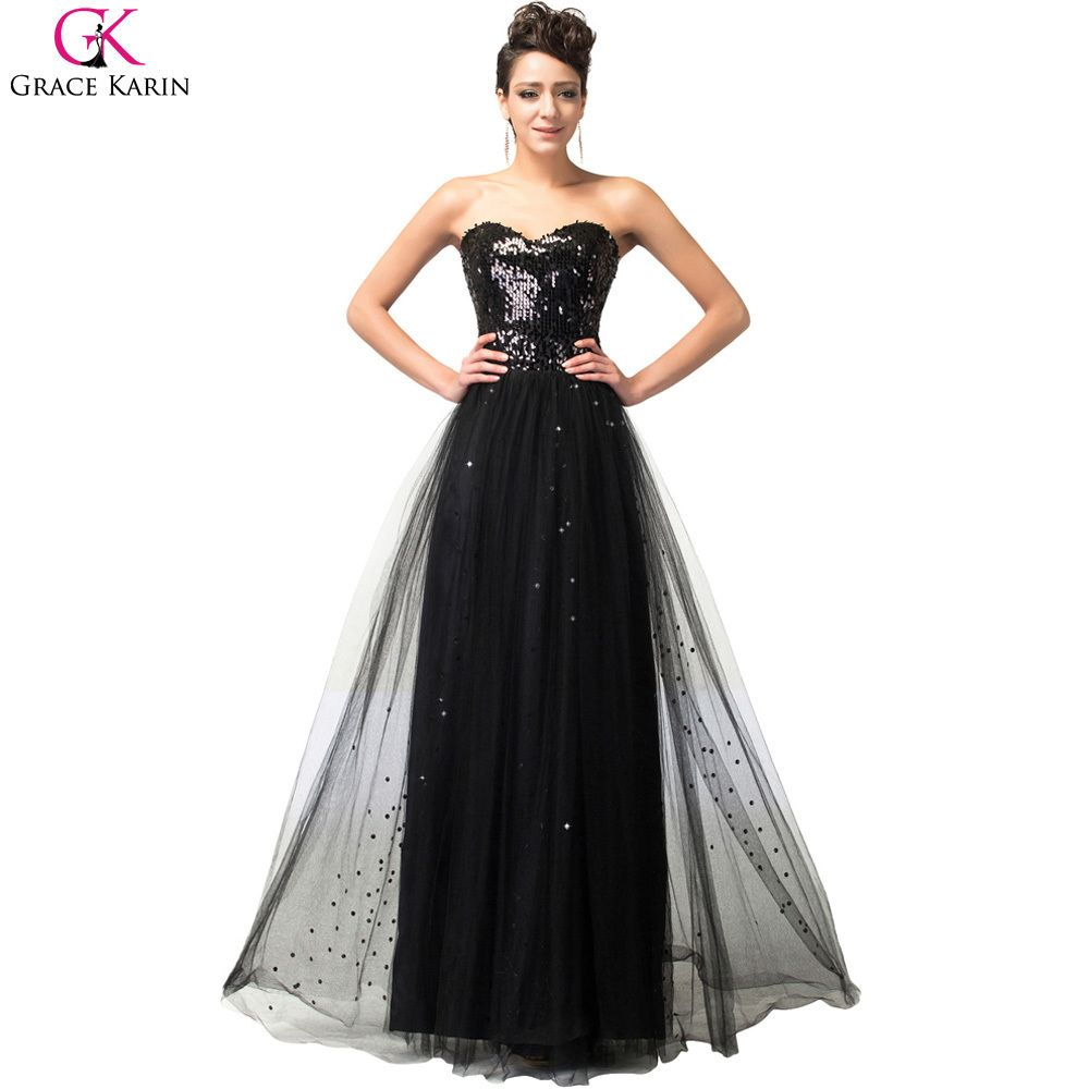 Gown dress for wedding party  Click to Buy ucuc Grace Karin Prom Dresses Gold Sequin Strapless