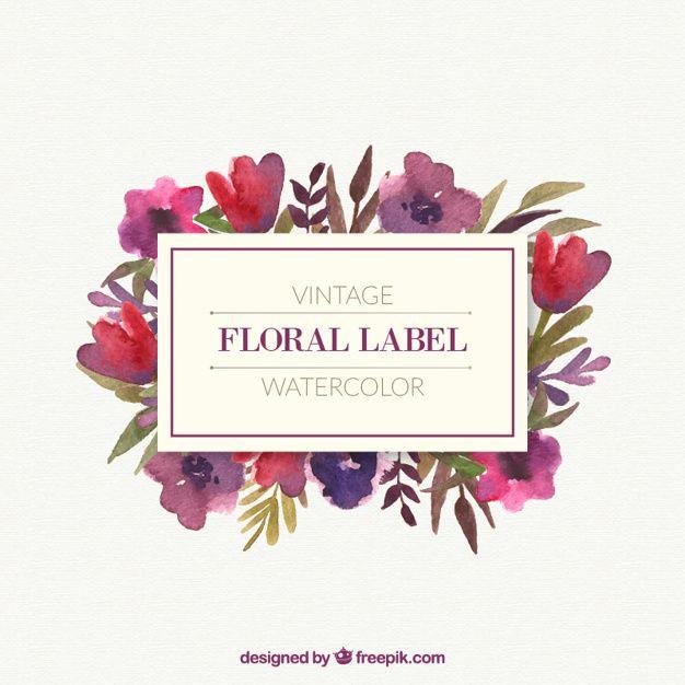 Bellas flores con hojas marco de la vendimia   Papel   Pinterest ...