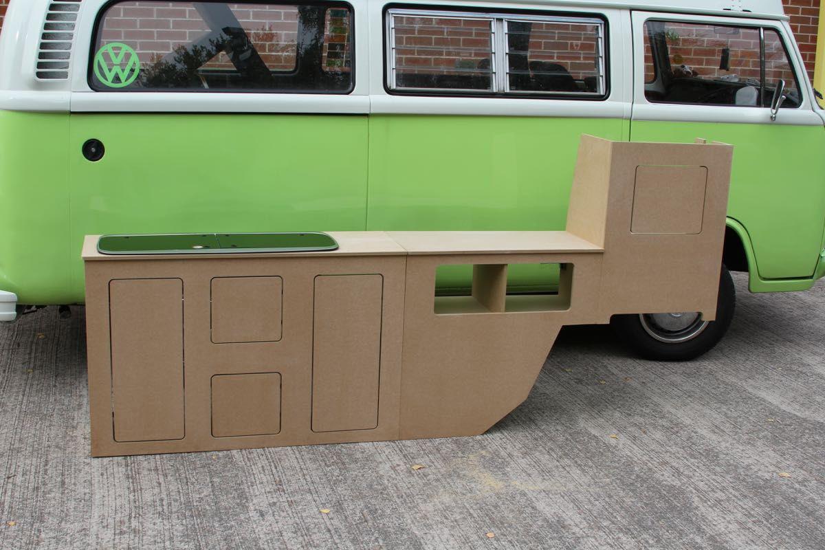 07995ac8d7 Volkswagen T2 Interior cupboards Bay window furniture. VW Units Cabinets