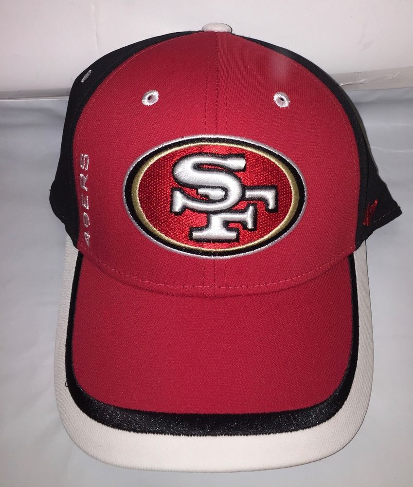NEW-San Francisco 49ers 47 Brand NFL On Field Red Black white Hat ... 036b4f838