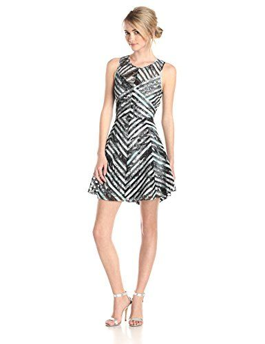 Parker Women's Mirabella Silk Stripes Fit and Flare Dress  http://www.artydress.com/parker-womens-mirabella-silk-stripes-fit-and-flare-dress/