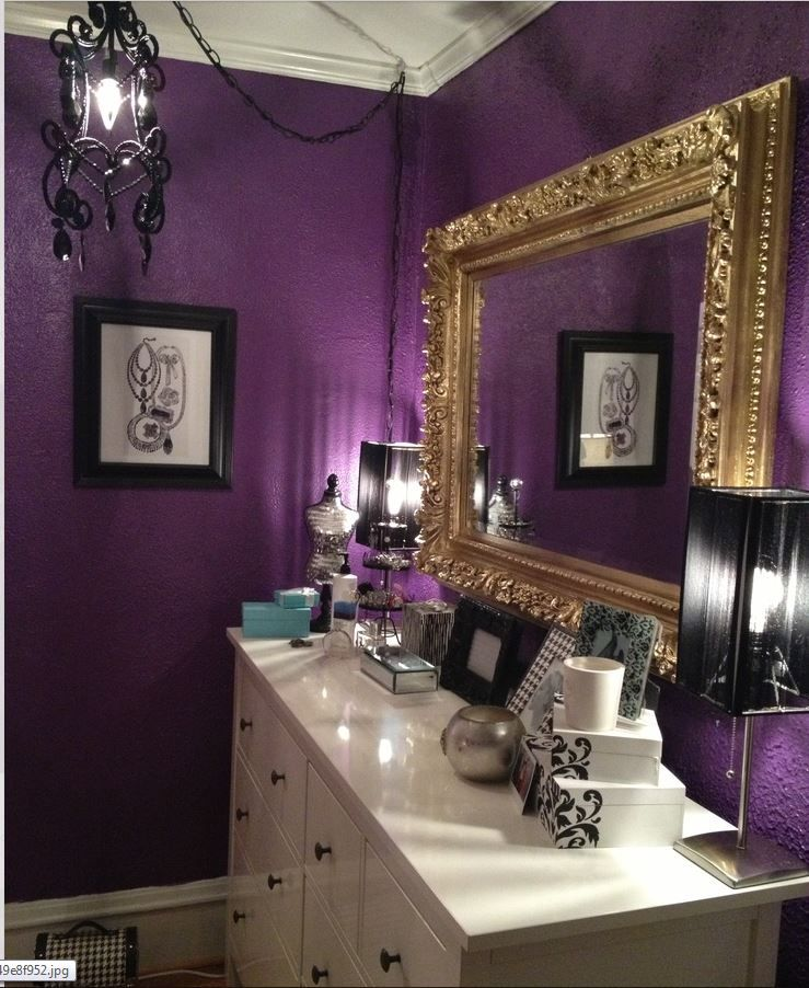 Purple And Black Bathroom: Pin By Rhonda Bartos On A PASSION For PURPLE In 2019