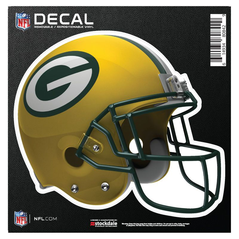 """Green Bay Packers 6"""" x 6"""" Full Color Helmet Repositionable Decal"""