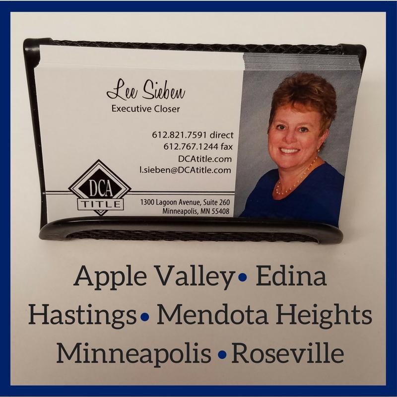 Lee Sieben Dca Title Executive Closer Dca Minneapolis Title