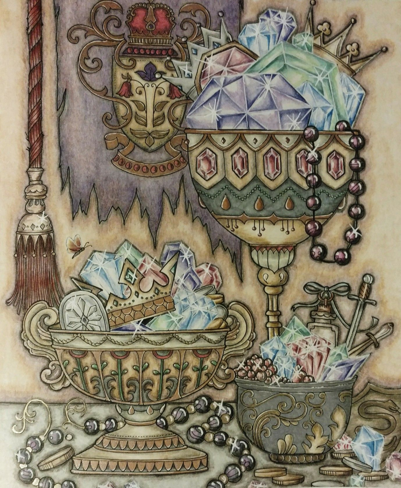 Ivy And The Inky Butterfly Coloring Book Johanna Basford