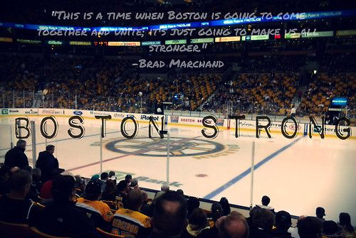 Loved all the quotes from the Boston players tonight standing behind their city and the two team salute was beautiful!!!!!
