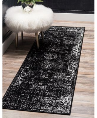 Basha Bas1 Black 2 X 6 7 Runner Area Rug Products In 2019