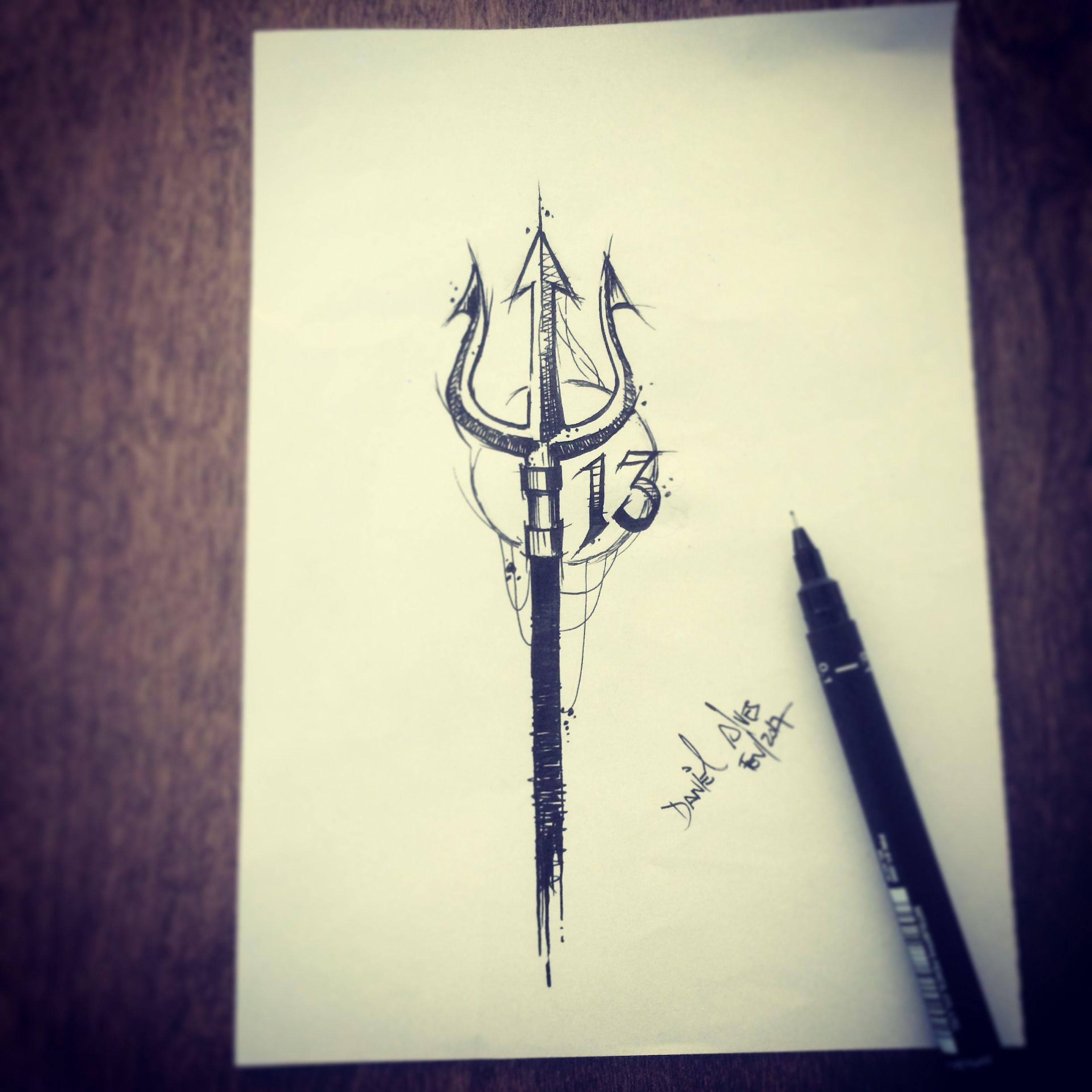 Trident By Dn Alves Daniel R Alves Gazab Tattoos