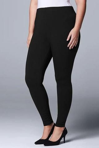 Photo of INTRODUCING OUR BEST SELLER BRUSHED COMFY PLUS SIZE YOGA LEGGINGS IN BLACK