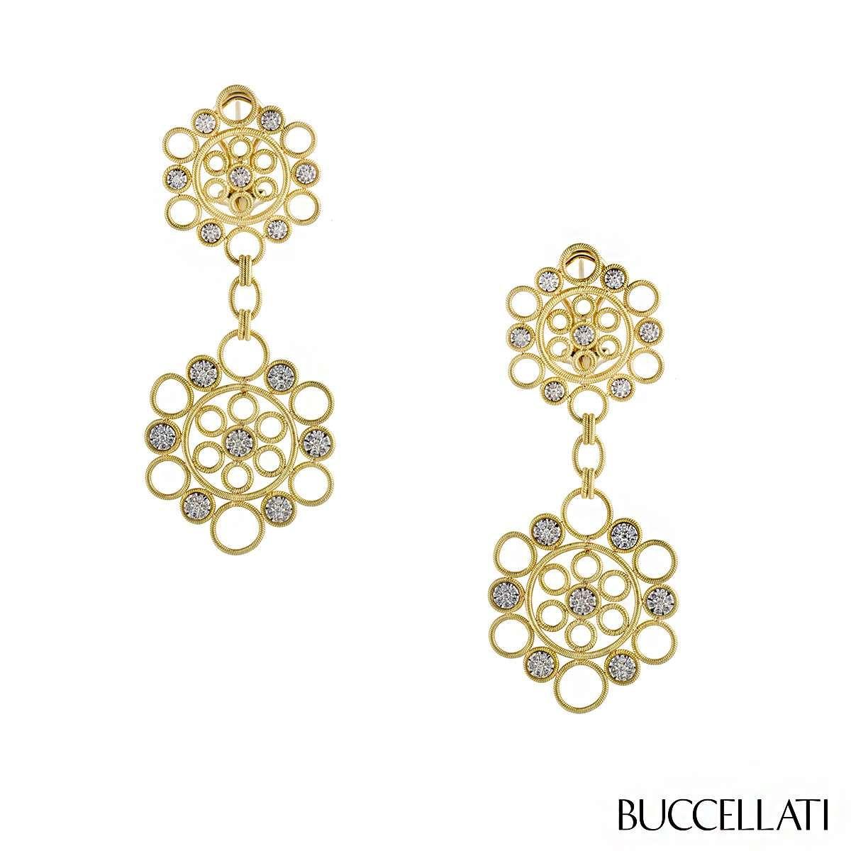 Buccellati Rombi Diamond Drop Earrings 5xv9V2BQFm