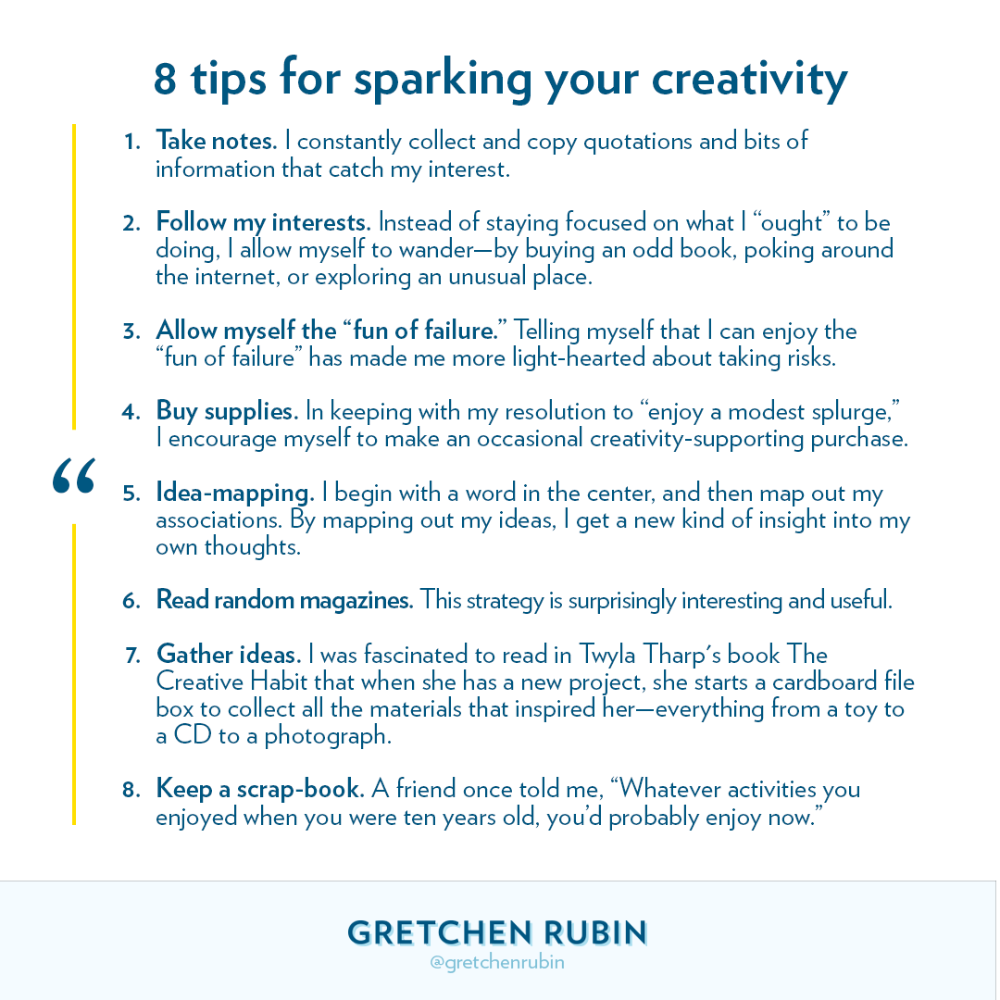 Gretchen Rubin on Quotations, Wise words, Writing tips