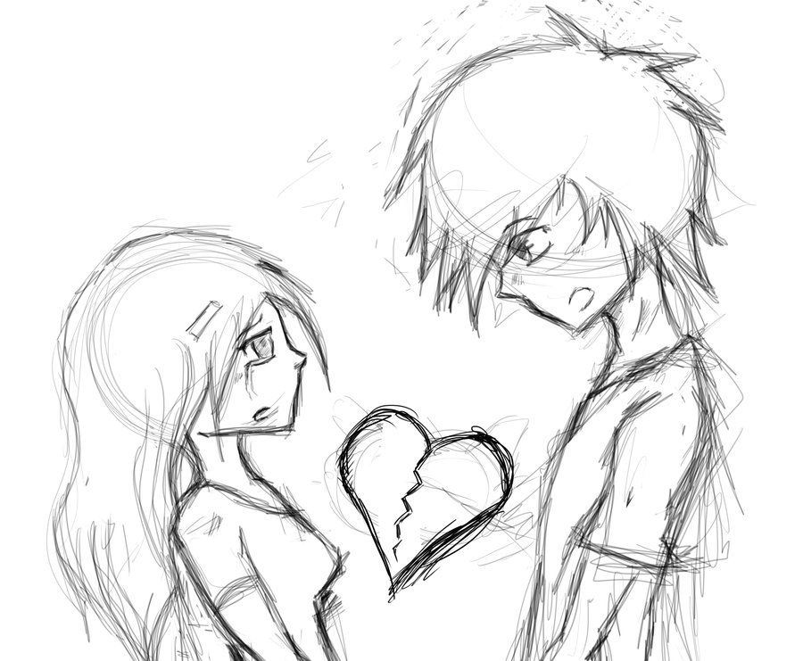 Anime Broken Heart Drawing