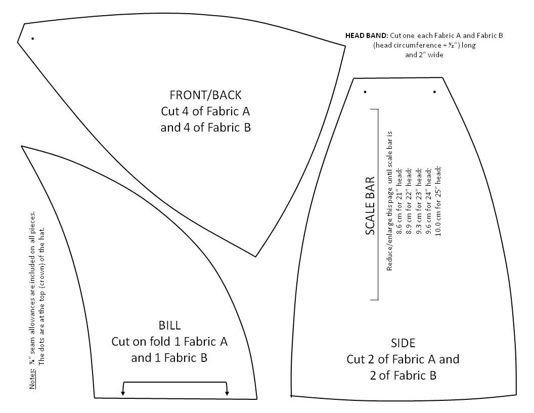 Pattern for a reversible welding hat  e4fdcba11e7