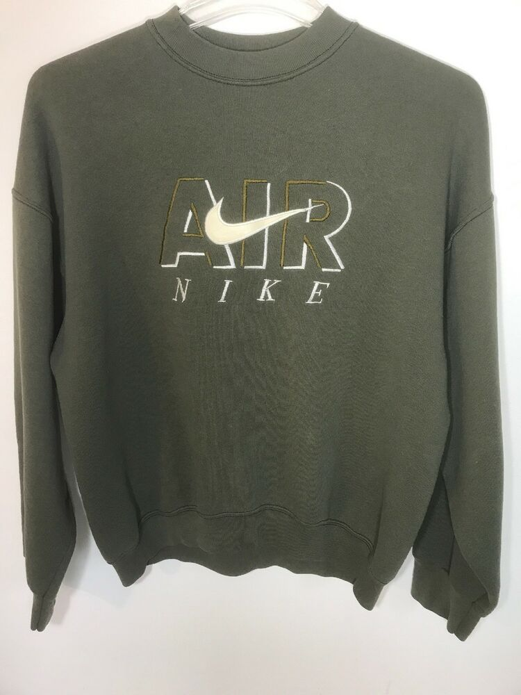 Vintage Nike Air Sweatshirt Xl Green Made In Usa Embroidered Leather Swoosh Fashion Clothing Shoes Acces Vintage Nike Sweatshirt Vintage Nike Sweatshirts