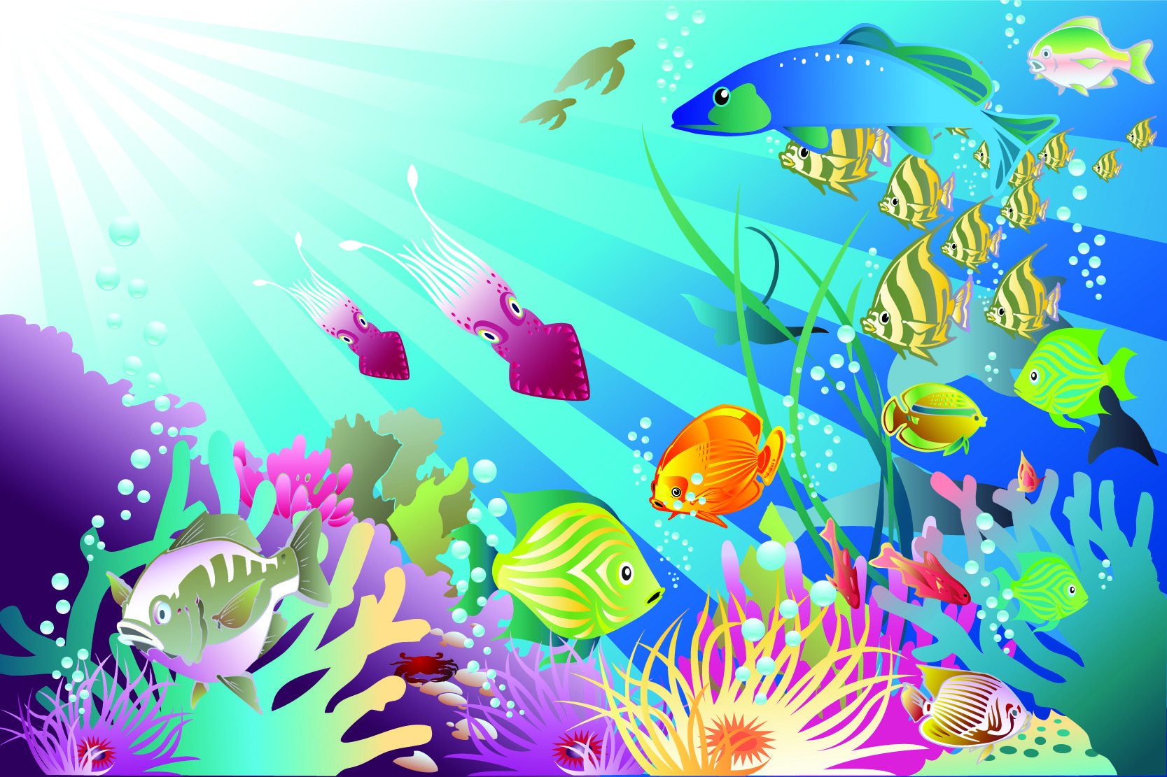 ocean clip art free Pack of Underwater Vectors
