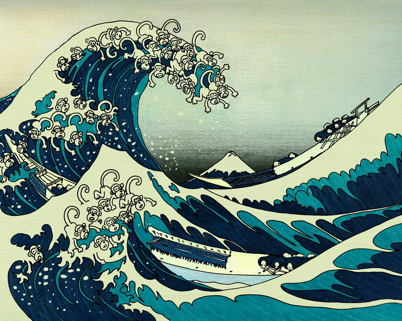 awesome Ocean Waves Drawing Wallpapers