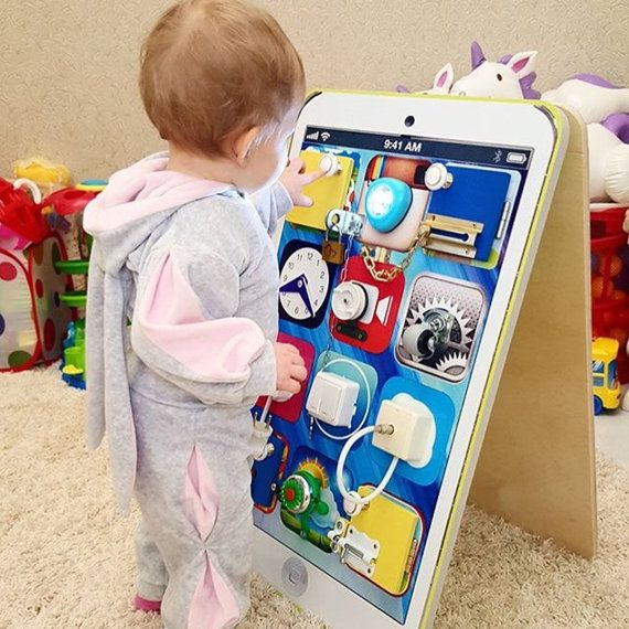 Busyphone Personalized Busy Board Toddler Toy Sensory Children