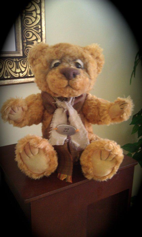 Vintage Ooak Teddy Bear by Nora Begona by nbegona on Etsy, $65.00