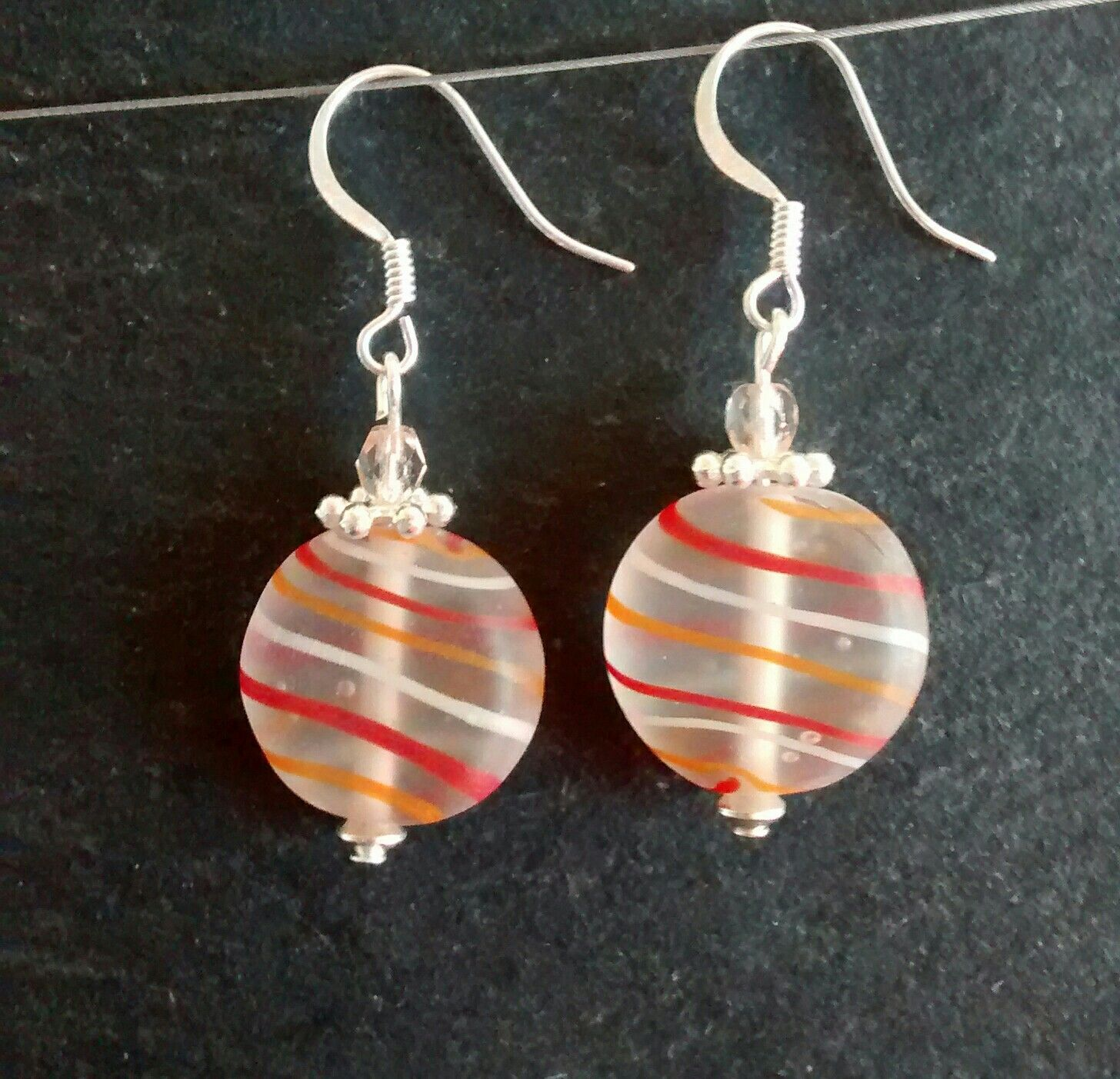 O Sweetie Drop Earrings Handmade Earring Handarbeit Hand Made